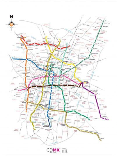 Mapa Metro CDMX