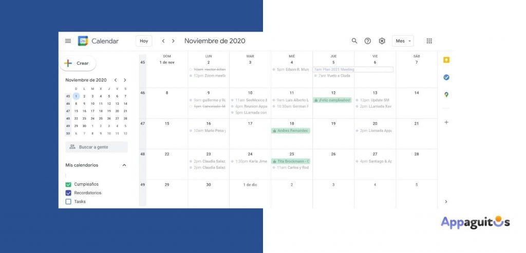 Calendario de seguimiento de ventas appaguitos.com