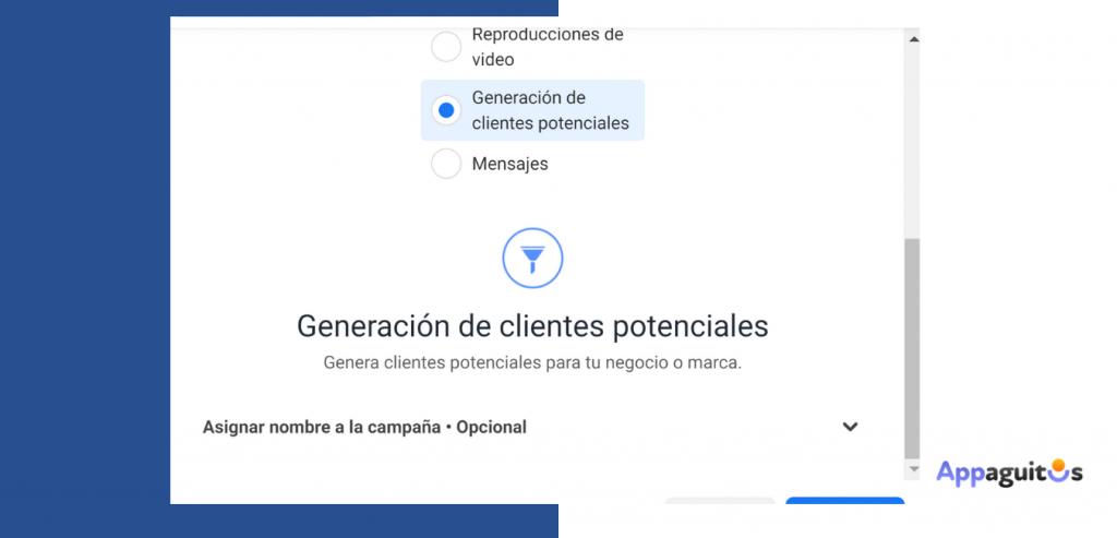 Generacion de clientes potenciales con facebook leads appaguitos.com